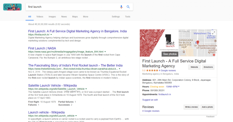 First-Launch-SERP-After-SEO
